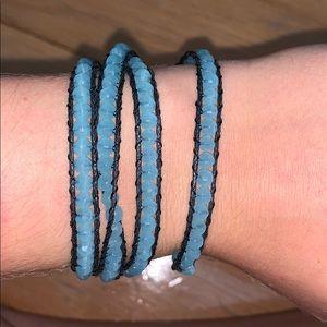 Jewelry - Wrap Around Bracelet/Necklace Blue and Black